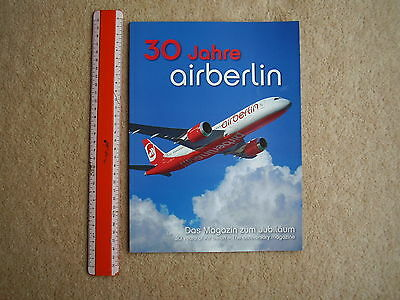 Air Berlin airline of Germany 30th Anniversary Magazine 2009, mint condition.