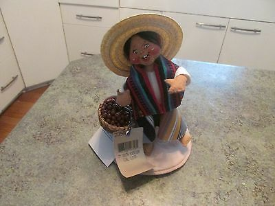 """Vintage Annalee Doll 1995 7"""" South American Girl W Tags"""