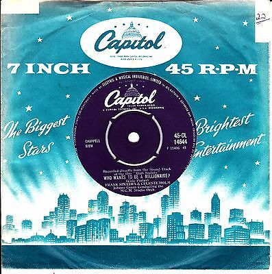 FRANK SINATRA/HOLM - Who Wants To Be A Millionaire (1956) VG+ CAPITOL CL14644