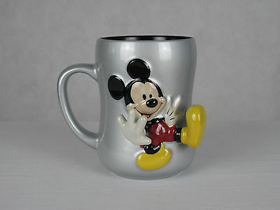 Mickey Mouse 3D Coffee Mug Silver Disney Store Exclusive