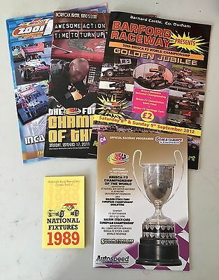 BriSCA F2 Stock Car World Final Programmes 2001/2011/2012/2013