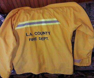 L. A. Los Angeles County Fire Department Size Large Work Jacket Coat EUC USA