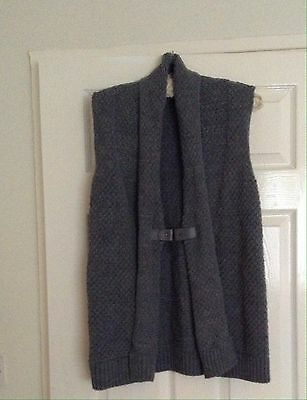 Grey Knitted Waistcoat By George Size 14