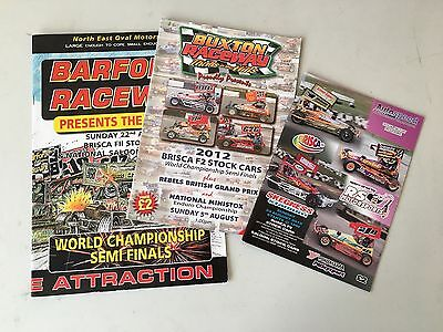 BriSCA F2 Stock Car World SEMI FINAL Programmes 2010/2012/2015