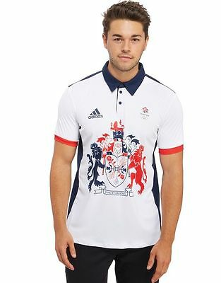 Adidas Olympics RIO 2016 Team GB Tennis Climachill Men's Polo Shirt (AP7865)