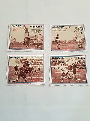 Paraguay Stamps Commerating 1930 World Cup Finals X 4 .
