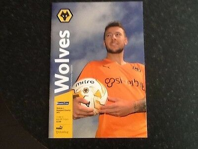 Wolves v Newport County Capital Cup 11th August 2015 Football Programme