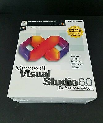 Microsoft Visual Studio 6.0 Professional Edition New Sealed