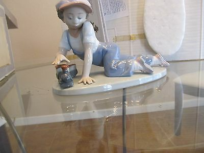 "Lladro "" All Aboard"" #7619 mint with original box"