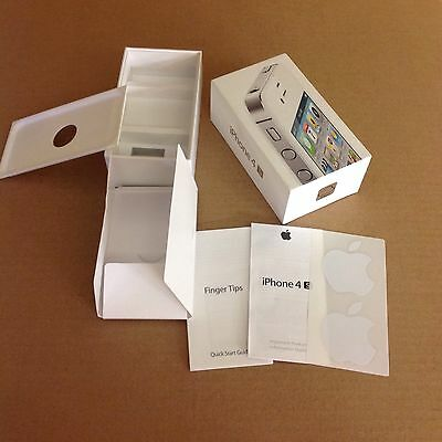 Box Only For iphone 4S White 16GB Apple Stickers Information Guide & Finger Tips