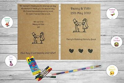 Personalised Childrens Kids Wedding Activity Pack Book Rustic Vintage AB21