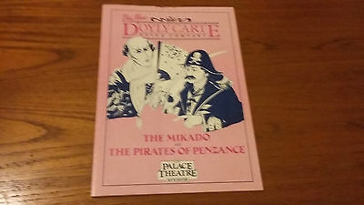 Theatre Programme The Mikado & Pirates Of Penzance Doyly Carte Palace Mcr 1989