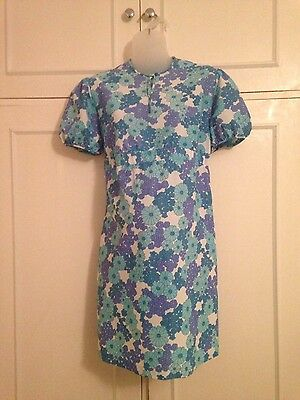 vintage 60's 70's Mothercare size 2 daisy print floral maternity dress 14 16
