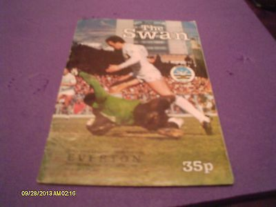 Swansea City V Everton Programme Season 82 - 83