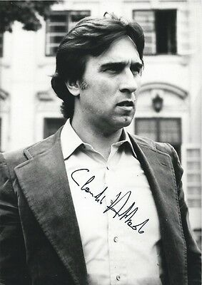 CLAUDIO ABBADO (1933-2014) / early HAND SIGNED photo postcard of opera conductor