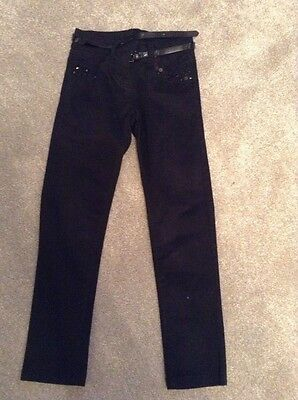 Girls Next Black Trousers Age 8 Years