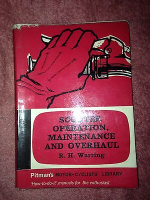 Scooter Operation Maintenance & Overhaul By R. H. Warring. Pitman's Motorcycle