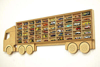 Toy Car 'Truck' Shelf, Model Shelving & Storage Unit Display, Ply Holds 60+ Cars