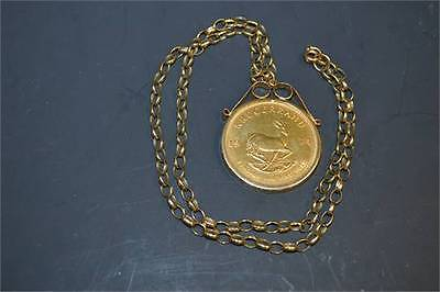 Krugerrand Gold with chain 24ct
