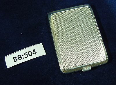 Silver Card Case, Push Button Clasp - Hallmarked London 1934 BB504