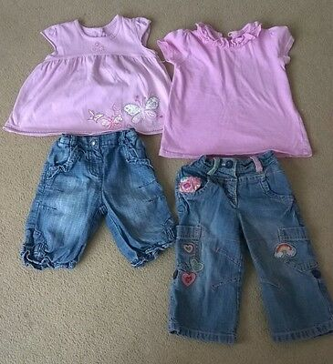 Bundle of baby girls clothes 9-12 months, 4 items, Matalan, George and Next