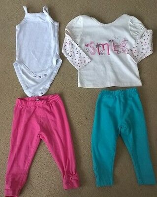 Bundle of baby girls clothes 9-12 months, 4 items, Matalan, TU and Zara