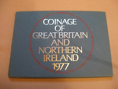 Royal Mint 1977 Early Decimal Proof Set Coins 7 coins with crown