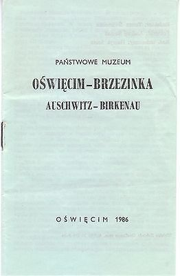 1986 Pocket Guide to the AUSCHWITZ-BIRKENAU State Museum in Poland