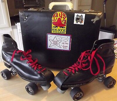 Reidell Roller Skates All American Plus wheels derby CASE square cat COLLECTOR