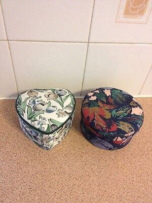 Two Large Fabric Trinket Boxes New