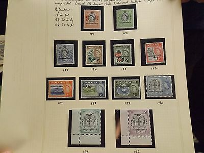 Set of 1962/63 Definitives stamps from Jamaica-MNH