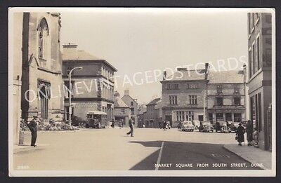 Berwickshire Market Square From South Street Duns Real Photo