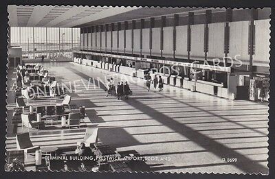 Terminal Building Prestwick Airport Real Photo