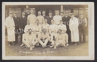 Manchester Police Cricket Team A.division Super Team Real Photo