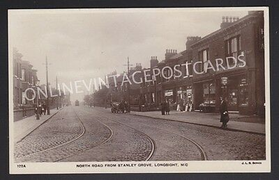 North Road From Stanley Gove Longsight Manchester J.l.brown Real Photo