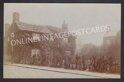 Manchester Suburbs Old Cottages Stockport Road Longsight Real Photo