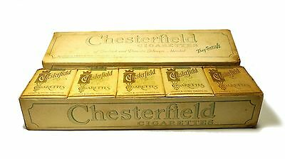 Vintage Carton of 200 Chesterfield Cigarettes (10 Individual Packs of 20 SEALED)