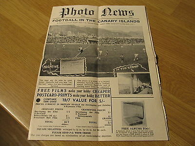 Photography News Camera Advertising Paper 1957 Tenerife Canary Islands Football