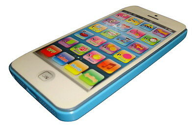 Blue iphone 5 Children Educational Phone Learning Kids Toy GIFT