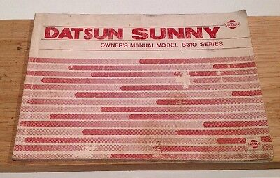 Datsun Sunny 1979 Owners Manual.
