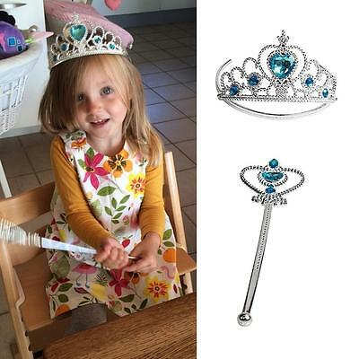 Mermaid Princess Tiara Crown Magic Wand Girl Accessory Party Dress Up Costume