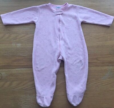 Girls Pink With Hearts Fleece Sleepsuit Age 12-18 Months
