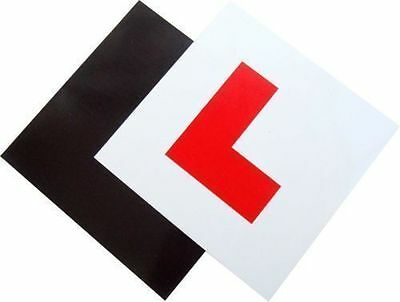 2 x L Plate Learner Learning Full Magnetic Car Exterior Plates Secure & Safe