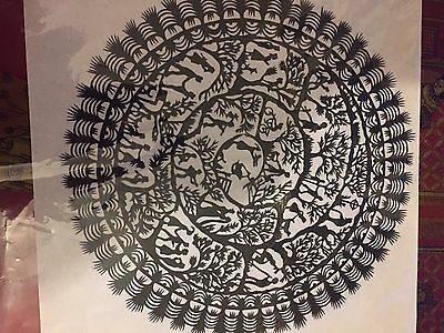 "Traditional Chinese Paper cut ""wheel Of life"""