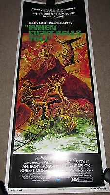 EIGHT BELLS TOLL  - ALASTAIR MacLEAN - US FILM POSTER - PORTRAIT SIZE COL - ORIG