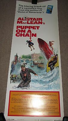 PUPPET ON A CHAIN - ALASTAIR MacLEAN - US FILM POSTER - PORTRAIT SIZE COL - ORIG