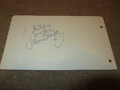 Joanna Lumley   -  Comedy Signed -  7X5 Inch Paper Page  - Genuine -  Uacc