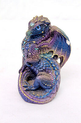 Windstone Editions Retired Peacock Young Dragon Figurine 1988 Pena
