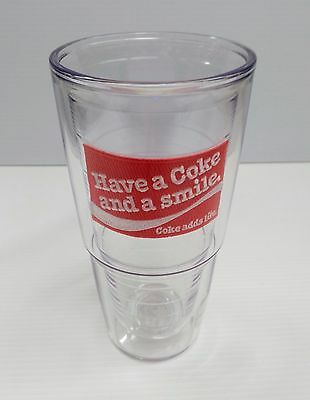 """Coca-Cola 24oz """"Have a Coke and a Smile"""" Tervis Tumbler - BRAND NEW"""