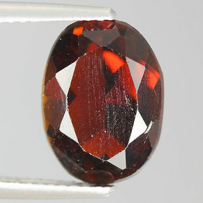 3.940 Cts Amazing Rare Beautiful Orange Red 100% Natural Hessonite Garnet Gem !!